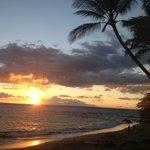 Ulua Beach at sunset...