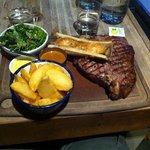 My huge 950g steak