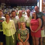 The family at The Rose Tree with Dimitri (owner)