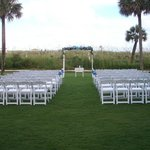 Wedding Set up on Springmaid Ocean Front Lawn