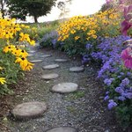 a beatifully planted, colorful garden