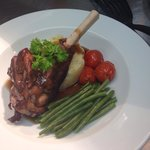 Slow cooked Lamb shank with red wine gravy specials board