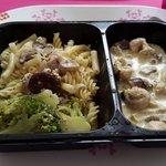 Émincé de poulet brocolis et pastas.