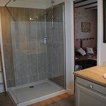 salle de bain rénovée de Charmoise cet hiver