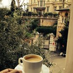 Espresso in room and view