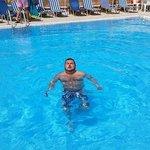 Enjoying the glorious pool