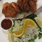 Coconut Crusted Prawn Dinner