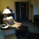 Living space in 4th floor suite
