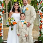 After our Ceremony with the gazebo on their grounds behind us Credit to Heather LaBone Photogra