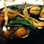 Pescado frito (tempura of silver mullet, baby artichokes & samphire)