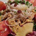 Salade de poulet indien correct mais pas exceptionnelle