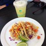 Fresh Fish Tacos & Pineapple Aqua Fresca
