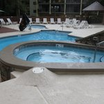 One of the outdoor pools and hot tubs