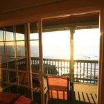 Balcony near sunset