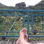 sieste sur le transat de la terrasse du resto de la maroto