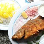 Special Fried Fish with Saffron Rice