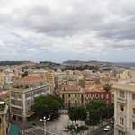 Vista de Cagliari desde el bastión
