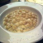 Gnocchetti con castelmagno e gorgonzola
