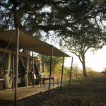 Each tent is secluded and overlooks the game filled plains and bush