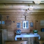 inside church in passo giau