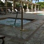 hot tub near the pool
