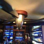 Cool DC-6 propeller spins over the bar
