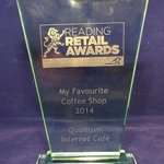 Quantum is 'Reading's Favourite Coffee Shop' 2014!