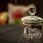 daft jamies whisky glass