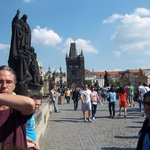 Ross sharing his knowledge on Charles Bridge