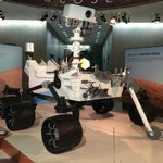 Mars Rover exhibit in lobby of back building