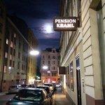 The moon shines on Pension Kraml