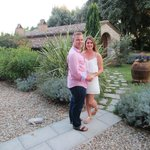 The beautiful hotel grounds....just after we got engaged!