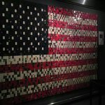 The American flag made out of Zippo's!!