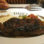 bistecca con purè e verdure