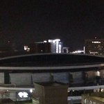 The Hornets Arena from the hotel rooftop view