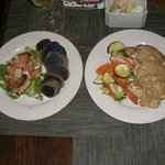 Crab Cakes / Baked Ono w/ sweet maui onion sauce