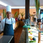 New servery with Chef Mahmud