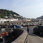 view of East Looe from the river bridge