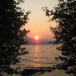 Beautiful sunset at Odell Lake