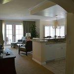 One Bedroom Villa living/dining area