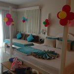 Suite decorated with Birthday balloons