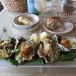 Baked oysters — also delicious!