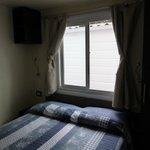la camera matrimoniale della mobile home Baia Relax new