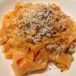 carrot pappardelle with white wine-rabbit ragu