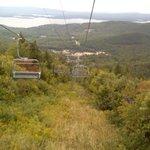 ski lift on the way down.