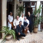 Me, with the lovely Riad staff