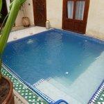 Riad plunge pool.