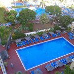 Overlooking pool area