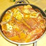 CAZUELA DE BOGABANTE  con pescado y patatas