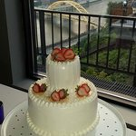 Elegantly simple wedding cake!